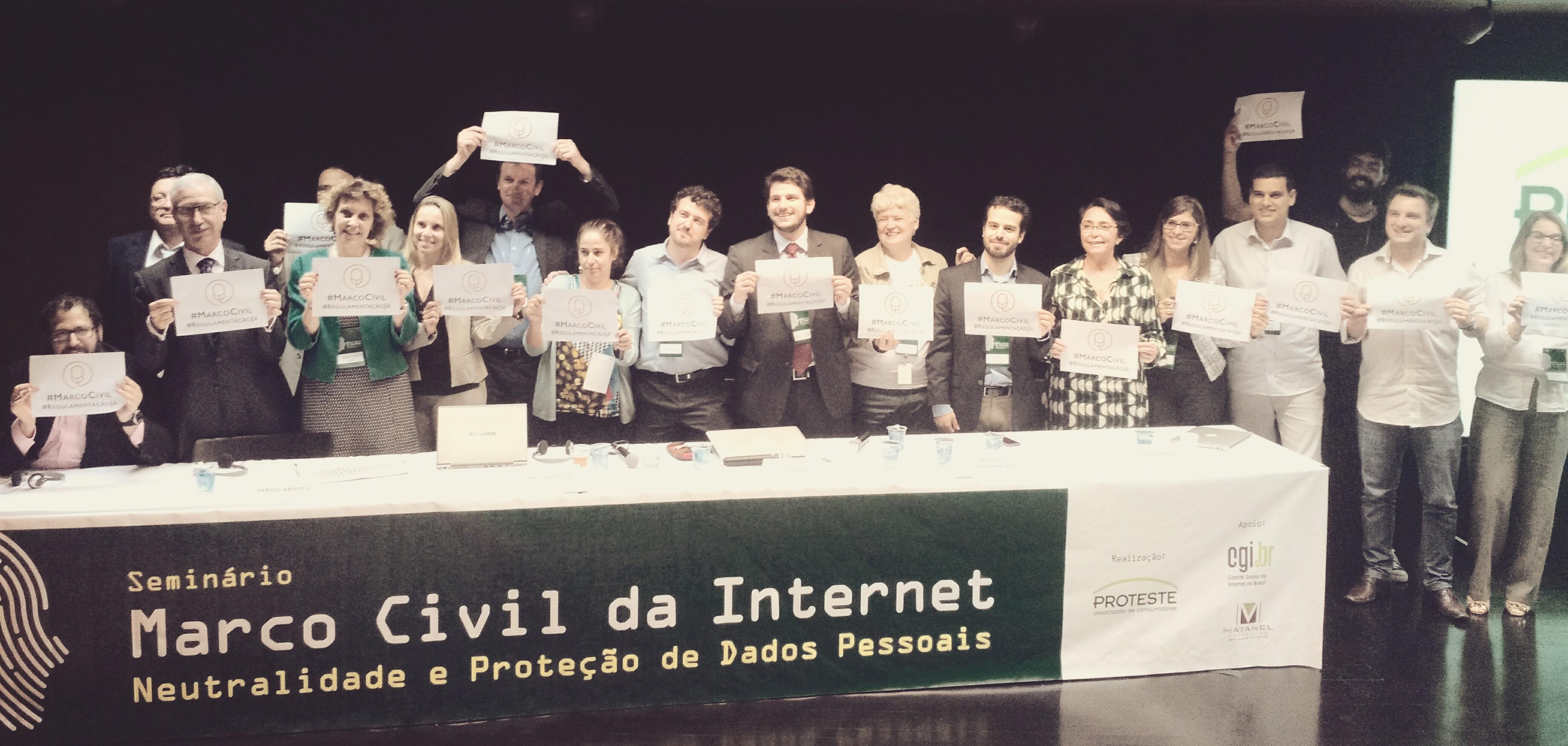 Na última semana a PROTESTE - Associação de Consumidores realizou em parceria com o CGI.br um seminário sobre os temas discutidos nas consultas públicas.